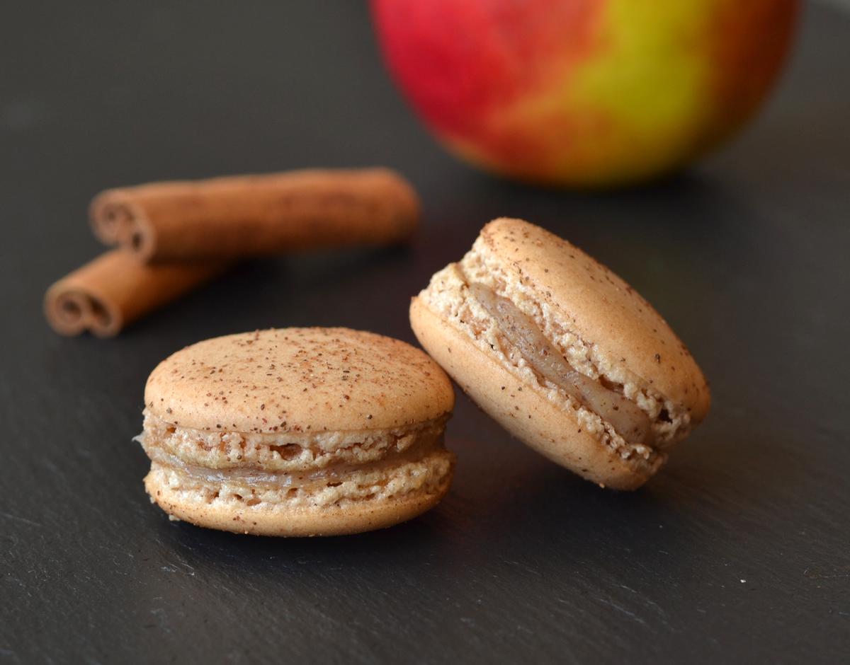 æble kanel macarons