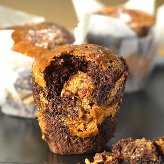 Muffin med chokoladestykker