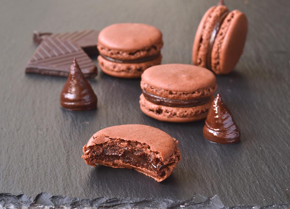 chokolade macaron opskrift