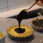 Citron tærte med marengs og lakrids creme