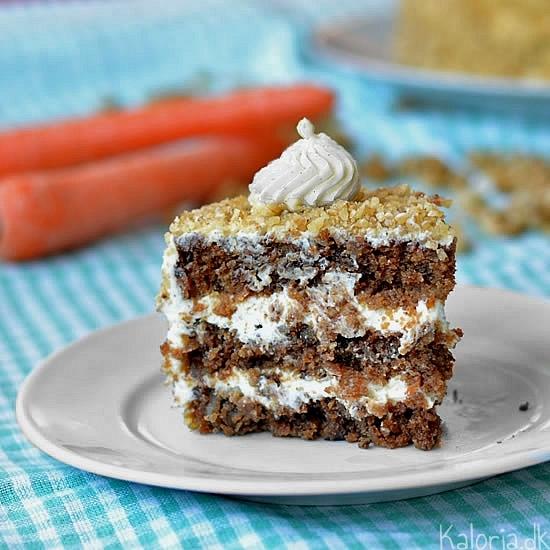gulerodskage med flødeost/ostecreme