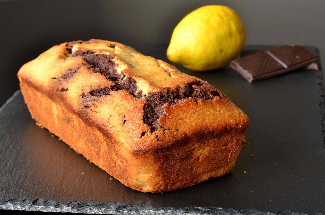 marmorkage med chokolade og citron opskrift